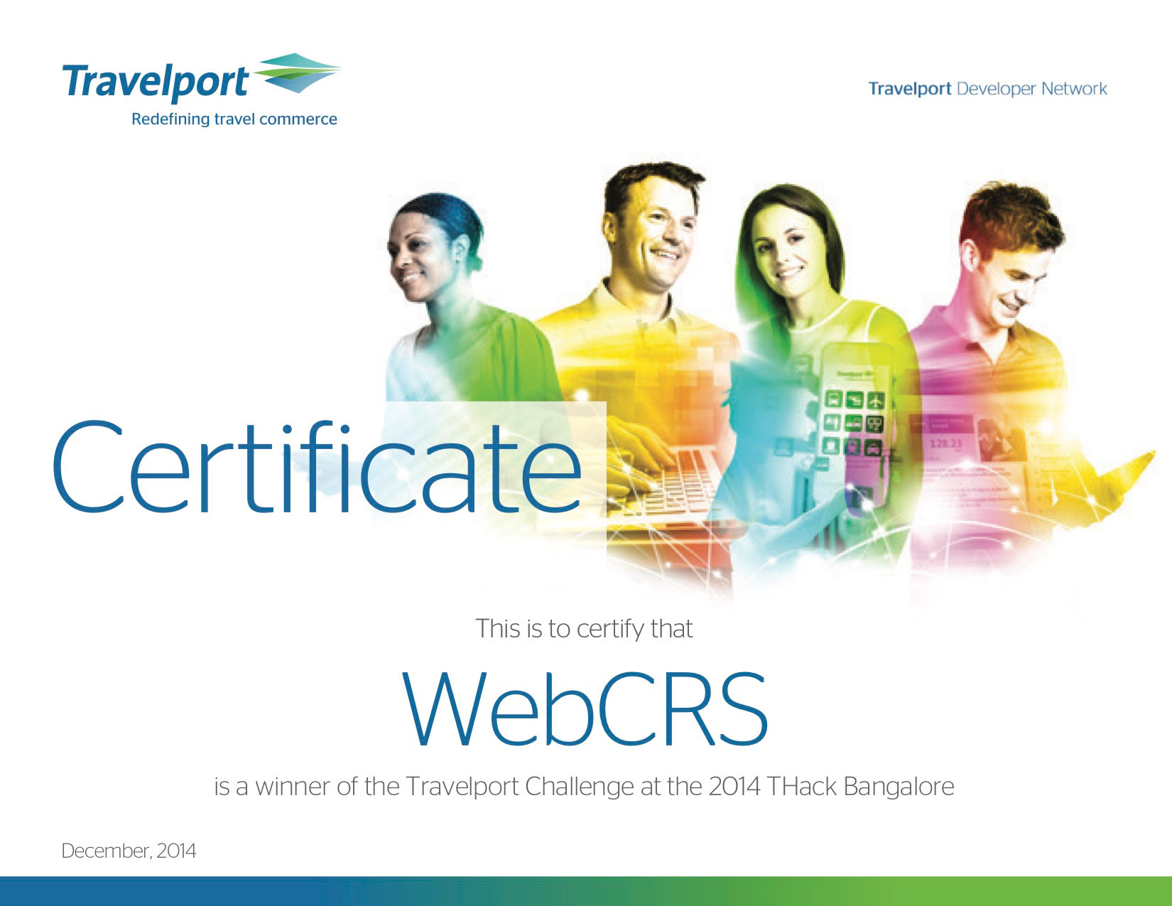 webcrs travel - winner of travelport travel technology software
